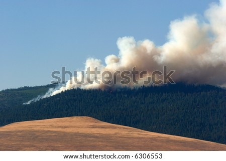 Forrest Fire near Missoula, Montana - stock photo