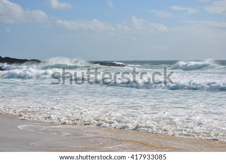 Forster, One Mile Beach, Watching The Surf,