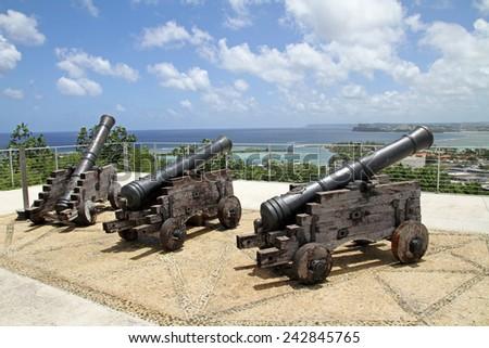 Fort Apugan in Guam - stock photo