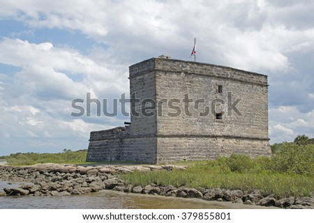 Fort at Florida river south of St Augustine                      - stock photo