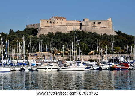 Fort Carre, a 16tth century fort in Antibes and a famous landmark in French RIviera - stock photo