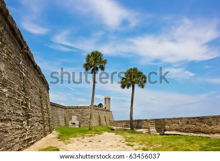 Fort Castillo de San Marcos , St. Augustine, Florida, US - stock photo
