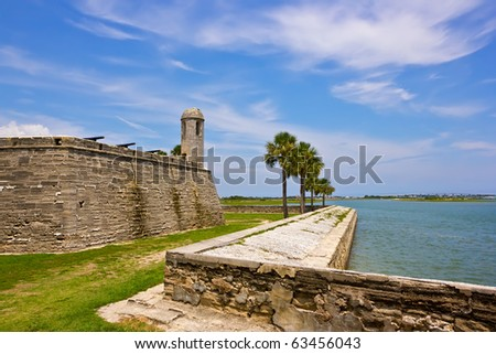 Fort Castillo de San Marcos , St. Augustine, Florida, US - stock photo