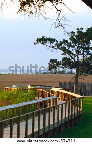 Fort Fisher Path - stock photo