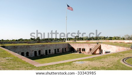 Fort from upper tier - stock photo