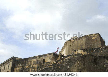 fort fuerte san cristobal old san juan, puerto rico - stock photo