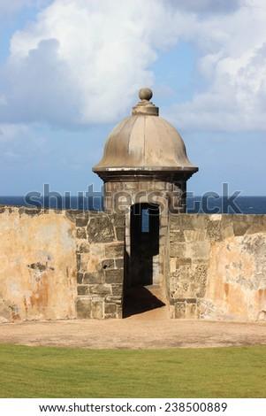 fort in old San Juan - stock photo