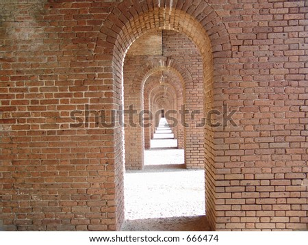 Fort Jefferson National Park, in the Dry Tortugas, west of Key West Florida - stock photo