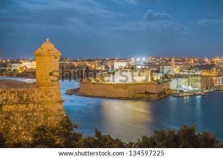 Fort Lascaris Bastion Gardjola in Valletta, Malta - stock photo