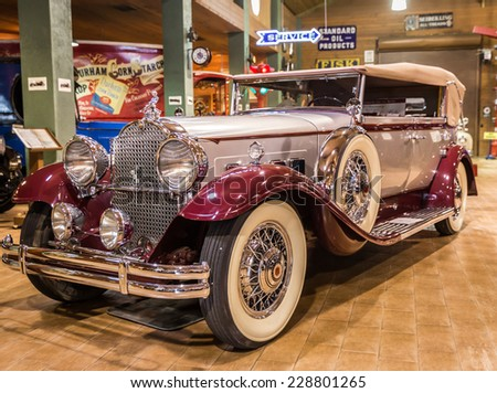 FORT LAUDERDALE, FLORIDA, USA - AUGUST 30: Fort Lauderdale Antique Car Museum exhi