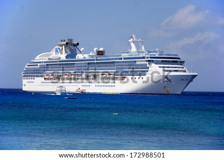FORT LAUDERDALE NOV 2, 2012: Princess cruise ship in Fort Lauderdale Florida. Princess Cruises agreed to have their cruise ships featured in the television sitcom The Love Boat - stock photo