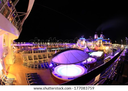 FORT LAUDERDALE, USA,� MAY 11: Royal Caribbean, Oasis of the Seas docked in Fort Lauderdale, USA on May 11 2011. The second largest passenger ship ever constructed behind Allure of the Seas. - stock photo