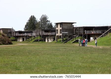 Fort Lewis near Astoria Oregon. - stock photo