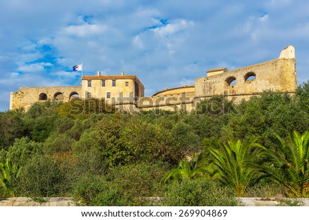 Fort located in Antibes, France - stock photo