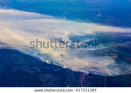 Fort McMurray Fire  - stock photo