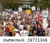 FORT MYERS, FL - APRIL 15: Tax Day Tea Party event crowd in Ft. Myers on April 15, 2009 in Fort Myers. - stock photo