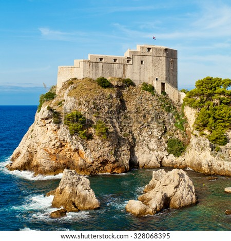 Fort of St. Lawrence in Dubrovnik, Croatia