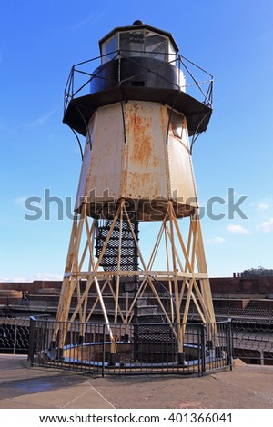 Fort Point Lighthouse in San Francisco, California. - stock photo