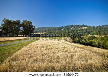 Fort Ross State Historic Park on the Pacific Coast in what is now Sonoma County, California, in the United States - stock photo