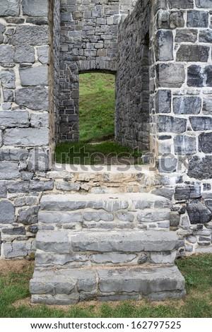Fort Ruins Doorway - stock photo