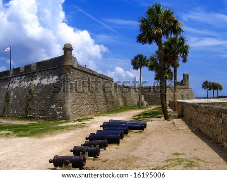 Fort, San Marco, St. Augustine, Florida, US - stock photo