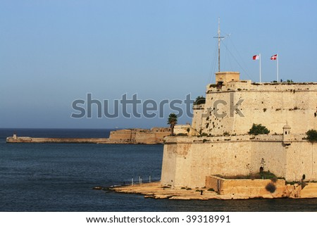 Fort St. Angelo in the Malta Grand Harbor