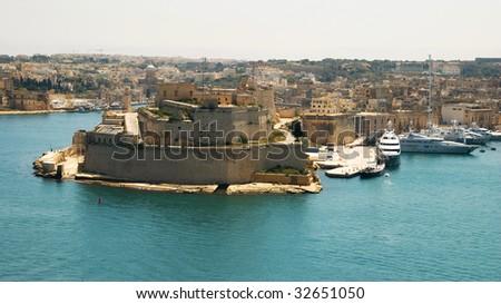 Fort St Angelo, Malta - stock photo