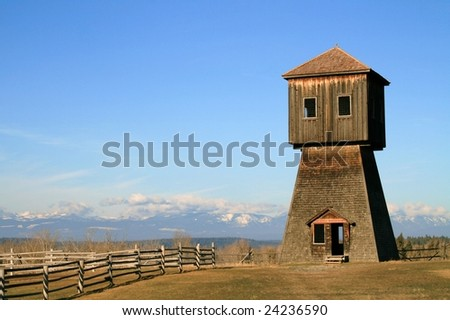 Fort Steel Heritage Town in British Columbia Canada - stock photo