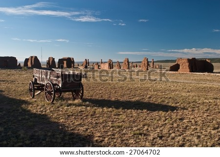 Fort Union National Monument is a unit of the National Park Service located north of Watrous, Mora County, New Mexico - stock photo