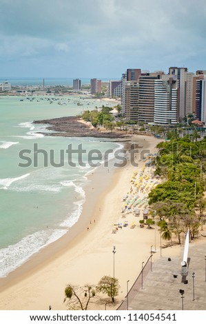 Fortaleza beach - Ceara - Brazil - stock photo