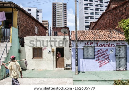 FORTALEZA, BRAZIL - NOV 05: Community of the city center that will be expropriated and removed because of the World Cup 2014 on November 05 2013, in Fortaleza, Brazil