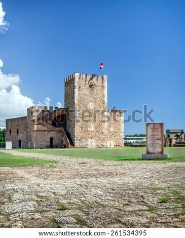 Fortaleza Ozama fortress in Santo Domingo, Dominican Republic - stock photo