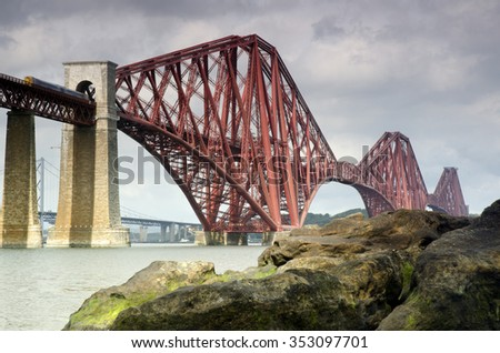 Forth Bridge, Scotland - stock photo
