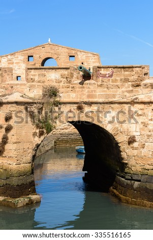 Fortified citadel and walls in Essouira Morocco