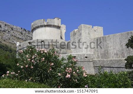 fortress, Dubrovnik old ctown, Croatia  - stock photo