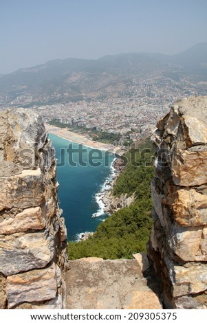 Fortress in Alanya, Turkey - stock photo