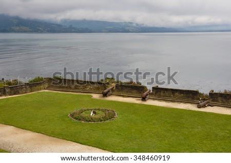 Fortress in Ancud, Chiloe Island, Chile. - stock photo