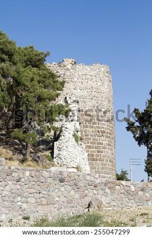 Fortress Kadifekale Izmir - stock photo