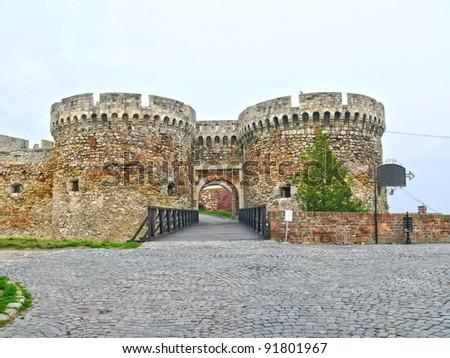 Fortress Kalemegdan in Belgrade, Serbia - stock photo