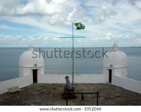 Fortress Mont Serrat - Salvador de Bahia - Brazil - stock photo