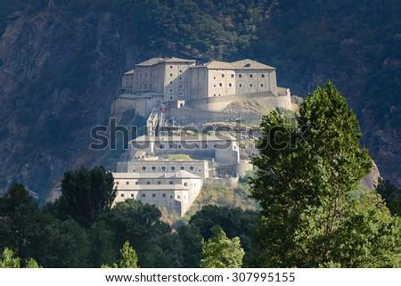 Fortress of Bard - Aosta - stock photo
