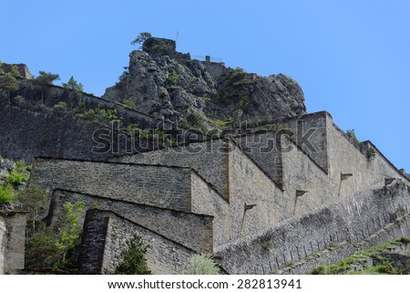 Fortress of Fenestrelle - Chisone Valley - Piedmont - stock photo