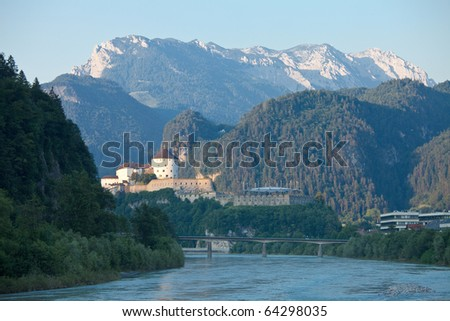 Fortress of Kufstein with the Kaisergebirge