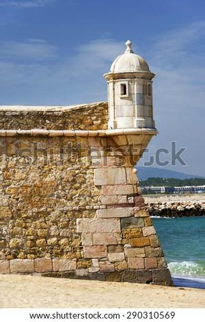 Fortress of Lagos, Algarve, Portugal - stock photo