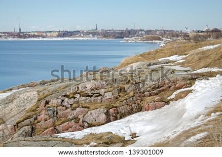 Fortress of Suomenlinna Island near Helsinki. Finland. - stock photo