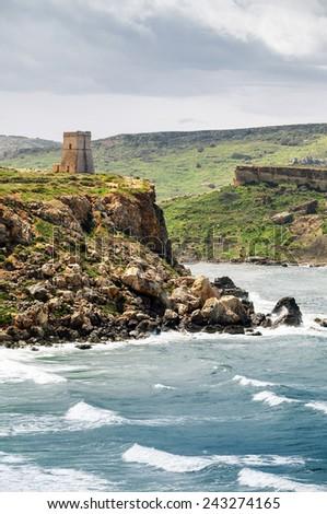 Fortress on Malta island - stock photo
