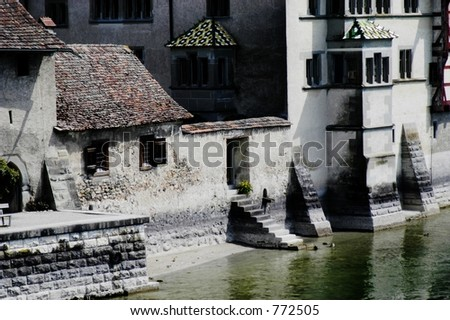 Fortress on Rhine River, Germany - stock photo