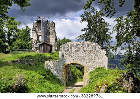 fortress ruins in Hohenhewen, Germany