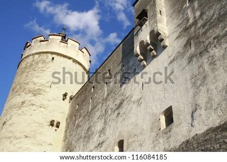 Fortress Salzburg - stock photo