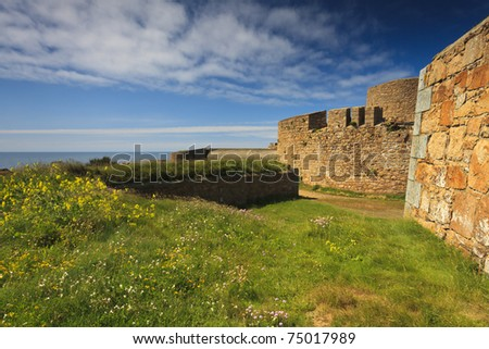 Fortress wall of Fort Hommet Guernsey